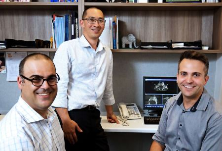 PAEDIATRIC DENTISTS from L to R: DR STEVE KAZOULLIS, DR MICHAEL CHONG & DR TONY CAKAR